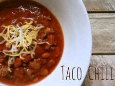 A Busy Mom's Slow Cooker Adventures: Taco Chili - Gluten-Free