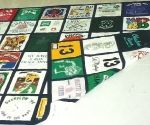 Tshirt quilt on both sides