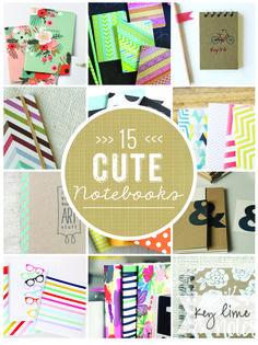 15 Cute Notebooks!