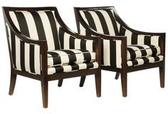 Tobi Fairley - Armchairs, Pair