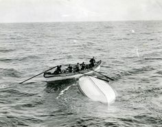 So chilling; the overturned lifeboat is Collapsable B