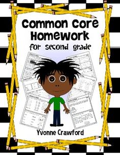 Will use for my higher first grade students - differentiated - Common Core Homework for Second Grade