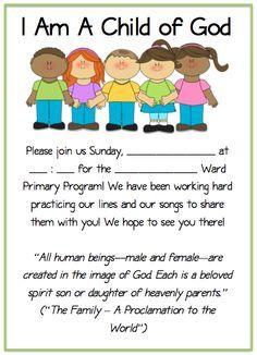 primary program invitations!