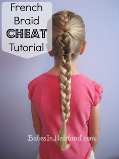 Can't French braid?  Try out this French Braid Cheat from BabesInHairland.com #frenchbraid #tutorial