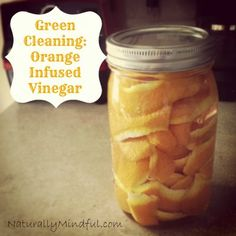 Vinegar alone is awesome but orange and vinegar is a match made in cleaning heaven!