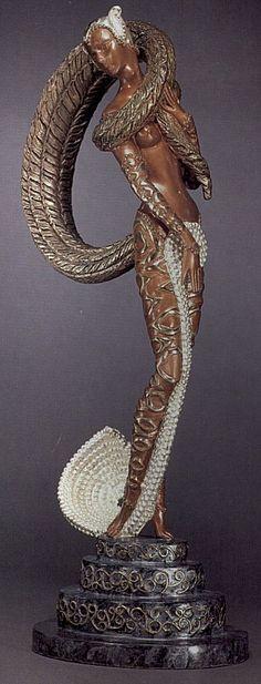 """Masquerade"" (Bronze)   by   Erte #4"