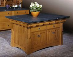 #Kitchen Idea of the Day: Craftsman Kitchen Island. (By Crown Point Cabinetry)