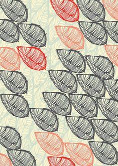 Oriental Leaf 1, pattern design by The Print Tree / Susan Driscoll, via Flickr