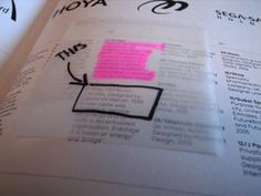 Transparent Post-Its. NEED THIS.