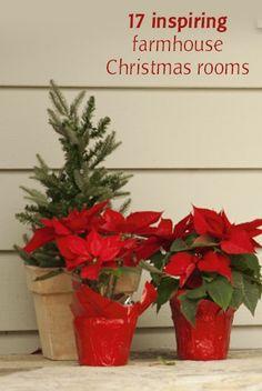17 Inspiring Farmhouse Christmas Rooms