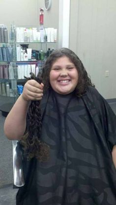Savanna Kenyon, 9-year-old daughter of Terra and Steven Kenyon of Pavilion, recently donated 19 inches of hair to Wigs for Kids.