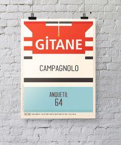 Iconic Cycling Jerseys Prints by Neil Stevens, via Behance #cycling #prints #graphic