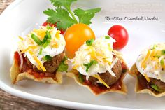 Easy, Delicious Tex-Mex Meatball Nachos Appetizer Recipe | Busy-at-Home  #easyrecipe #partyrecipes #ChristmasAppetizer #shop #CollectiveBias