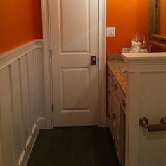 Wainscotting vaniti, powder room, toilet, master bathrooms, front bathroom