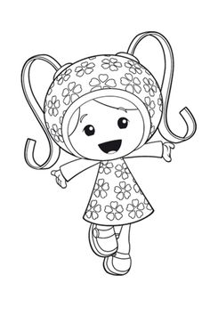 coloring page team umizoomi - Team Umizoomi