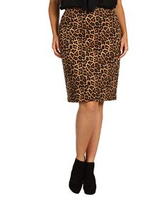 This animal print skirt takes a pencil from classic to daring. #Vday