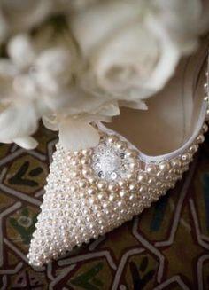 pearl bridal shoes