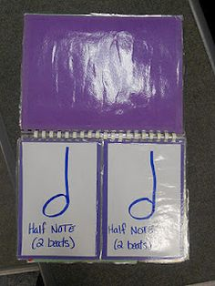 Note Value Flip Chart - a clever idea for illustrating note value relationships