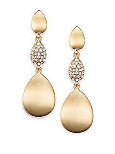 Sparkle Drop Earrings/Gold