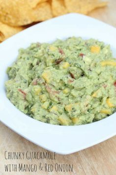 Recipe for Chunky Guacamole with Mango & Red Onion