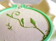 Learn Hand Embroidery with Me Series: The Fly Stitch