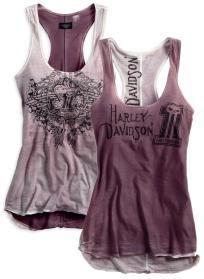 Harley Davidson Womens Reversible Purple Racerback tank..size Medium