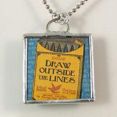 Creativity Reversible Pendant Necklace by XOHandworks $20