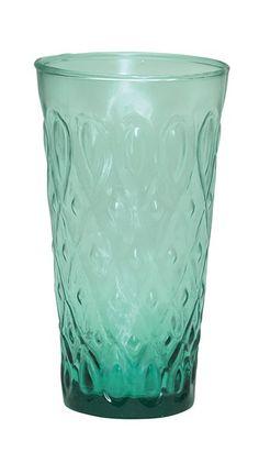 mint larg, pattern mint, diamond pattern, water glass