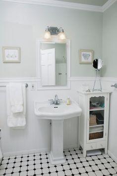 sweet lil bathroom love the whole look