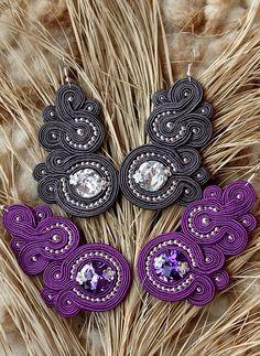 Sutasz Kleo /Soutache jewellery: Kolczyki sutasz Agnes II