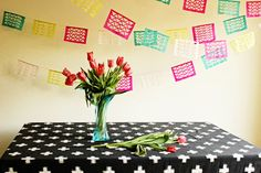 Geometric Cinco de Mayo Fiesta Garland - No celebration is complete without Cinco de Mayo crafts. This garland will definitely add some flair to your fiesta.