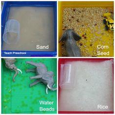 Texture water play by Teach Preschool