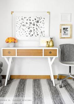 mid century vanity/desk makeover