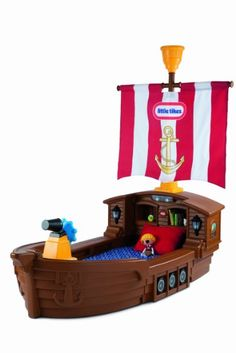 I want this bed for my son! Soo cute! Amazon.com: Little Tikes Pirate Ship Toddler Bed