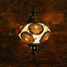 Hanging Mosaic Lamp