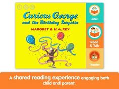 Curious George and the Birthday Surprise by i Read With - an interactive storybook. Appysmarts score: 87/100 http://www.appysmarts.com/application/curious-george-and-the-birthday-surprise-by-i-read-with,id_104747.php