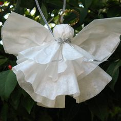 angel crafts, angel ornament, coffee filter crafts, craft idea, easi coffe, coffee filter angels, coffee filters, christma, coffe filter