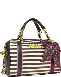 SCARF FACE MEDIUM SATCHEL BLACK WHITE accessories handbags non leather satchels