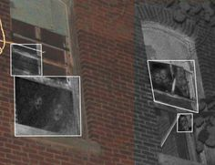 Ghostly apparitions in the windows at the McPike Mansion.....fake, IMO