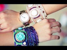 Kraf Kreatif : DIY Beaded Cuffs - % - http://carajahitanmanik.com/kraf-kreatif-diy-beaded-cuffs/