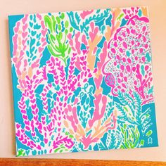 Lilly Pulitzer Inspired Let's Cha Cha Painting on Etsy, $30.00