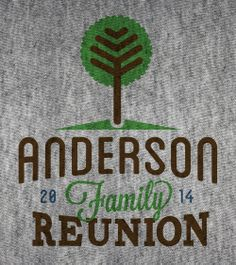 Custom family reunion logos from Reunions magazine! Print to t-shirts or any other reunion memorabilia.