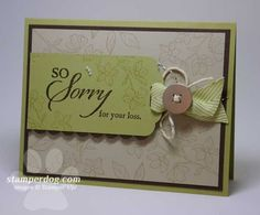 Sympathy Card - use paw prints in the background for a pet sympathy card
