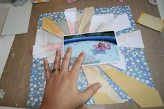 Ashli shares an awesome way to make sunbursts on a paper craft project/ scrapbook layout