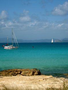 Beautiful anchorage #Formentera #BalearicIsland #YachtWorldCharters