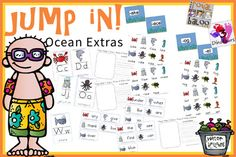 Jump In to Summer Learning Week to Extras: Wall cards that match up to Ocean Week 2