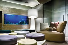 Nice inset wall aquarium at this home in Cape Town South Africa.