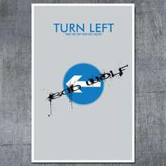"""Doctor Who Poster """"Turn Left"""" Inspired 11x17 Science Fiction Print by ModernStylographer, $17.00"""