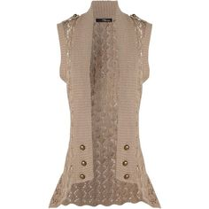 Crochet Button Sleeveless Cardigan Would love to own this