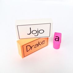 Personalized Erasers created with the Silhouette & Tattoo Paper | perfect for back to school  from Maritza Lisa #Tutorial